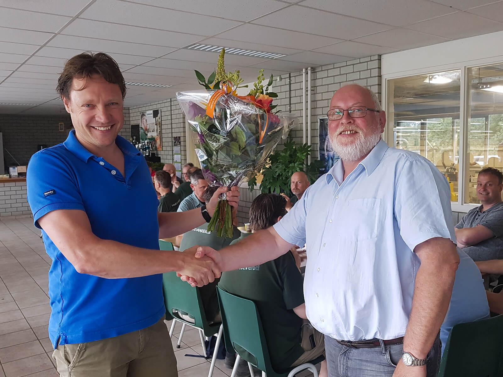 25 jaar bij Wiggers; Hans, van harte!